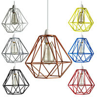 Industrial Wire Frame Ceiling Lampshade Vintage Shade Non Electric Lounge Light