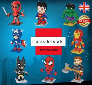 Superhero Nano Building Blocks INC BOX Gift UK Fast Despatch