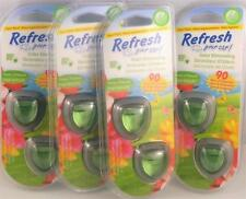 8 x REFRESH Odour Eliminating AIR VENT Diffusers Scented FRESH SPRING Freshener