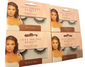 New Styles Jess Wright Glam False Fake Eyelashes Volume & Natural with Glue