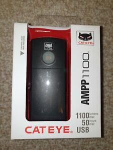 Cateye Ampp1100 Bike Front Light Rechargeable BNIB Cat Eye