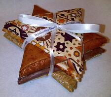 Jewish Judaica Fabric Fat Quarter Bundle - Beige Tones & Metallic Fabrics