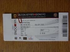 16/02/2013 Ticket: Milton Keynes Dons v Barnsley [FA Cup]
