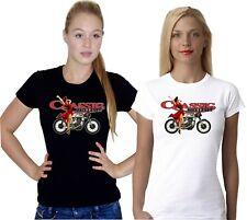Retro British Classic Biker Moto Motorcycle Vintage Motorbike Ladies T Shirt Top