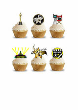 32 Stand Up Hollywood Movie Oscar Themed Premium Edible Wafer Paper Cake Toppers