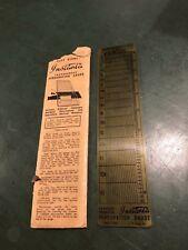 Stanley Gibbons Instanta Transparent Perforation Gauge -odontometro francobolli