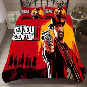 Red Dead Redemption Quilt Duvet Cover Set Quilt Single Double Super King Bed