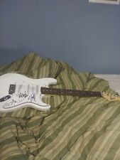 P.O.D Rock Metal Musicans Band Signed Irin White Full Size Guitar Sonny Sandoval