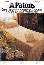 Vintage Patons knitting crochet book 951 craft ideas home decor doyleys cushion