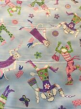 Cotton Fabric Easter Rabbit Bunny Spring Whimsical  Frog Cat Kitten 5.9 Yards