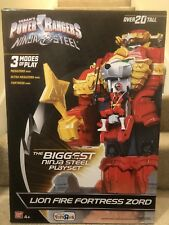 NEW Power Rangers Ninja Steel Lion Fire Fortress Zord 20 inch Action