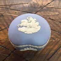 Wedgwood  Pale Blue Jasper Ware Kidney Shaped Trinket Box