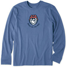 Life is Good Men's Have An Ice Day Long Sleeve Vintage Crusher Tee, Heather