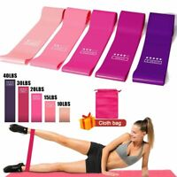 Elastic Resistance Bands Set Loop Gum Yoga Workout Training Fitness Gym Exercise