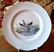 Vintage 1953 Dulcie Vaughan Hand Painted Side Plate Duck Take Off Royal Command