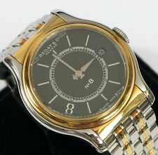 BEDAT & CO GENEVE NO. 8 SWISS MADE TWO TONE STAINLESS STEEL GOLD WRISTWATCH N8 !