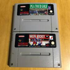Super Nintendo SNES Games - PGA Tour Golf & NHLPA Hockey 93
