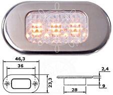 Osculati Watertight Polycarbonate 3 Yellow LEDs Courtesy Light 12V 3.6W