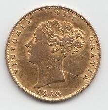 More details for rare 1860 queen victoria gold half sovereign