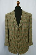 Men's Beige Houndstooth Burberrys' Tweed Jacket Blazer 44S