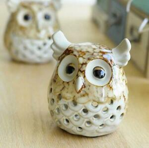 Retro Ceramic Candlestick Home Stand Owl Candle Holder Style Decoration Romantic