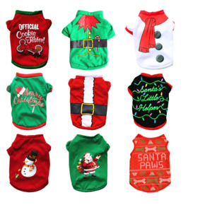 XS/S/M/L Pet Dog Clothes Christmas Costume Cute Cartoon Clothes For Small Dog