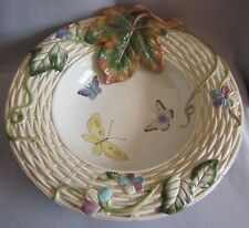 Large Centerpiece Serving Bowl Fitz & Floyd Old World Rabbits Pattern 15 3/4""
