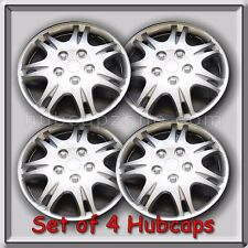 "15"" Silver Mitsubishi Galant hubcaps 1999-2003 Replacement Wheel Covers Set of 4"