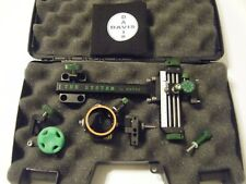 "4"" DAVIS TARGET SIGHT- Single knob-5.75 -black/green knobs-scope .010 green."
