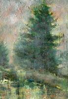 Aspen Colorado  7 x 5 in. Original Oil on panel Hall Groat Sr.