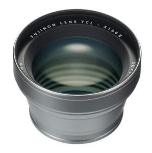 FUJIFILM TCL-X100 II Silver Teleconversion lens for X100F EMS w/ Tracking