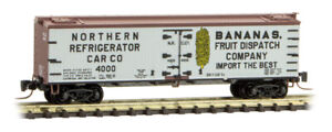Micro-Trains MTL Z-Scale 40' Wood Reefer National Refrigerator Car/Bananas 4000