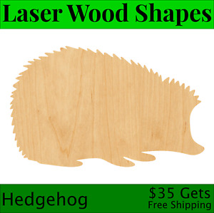 Hedgehog Laser Cut Out Wood Shape Craft Supply - Woodcraft