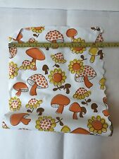 """Vintage HAPPY Mushroom AND Flowers Contact Paper MCM Mod 70's 18"""" Long"""