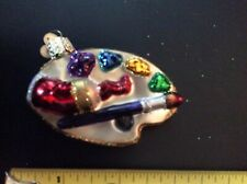 Old World Christmas Artist Painting Pallet Glass Ornament