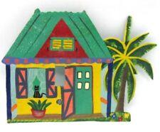 Metal Handmade Handpainted Beach Cottage Single Light Switch Cover Black Cat