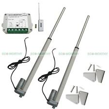 "2x 18"" 12Volt DC Linear Actuator Motor & Remote Control for Auto,Car,Medical"