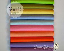 "Gorgeous Pastels Felt Collection, Merino Wool Blend Felt Ten 9"" X 12"" Sheets"