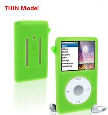 Green Silicone Skin Cover Case for iPod Classic 7th Gen 160GB 6th 80 120GB THIN