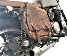 coppia borse laterali moto borsa bisacce in pelle invecchiata custom cafè racer