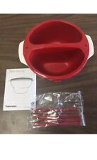New-Tupperware Chic Micro Deli Dip Bowl Set + Fondue Forks. Party!