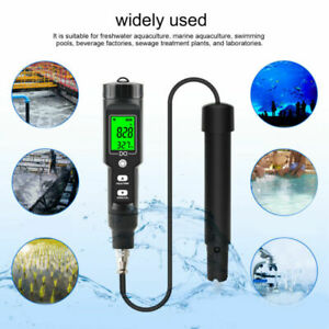 Dissolved Oxygen Meter Temperature Water Quality Tester 0.0‑40.0mg/L 0.1~40°C