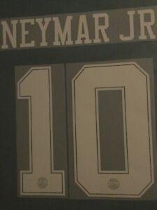 Flocage Officiel PSG Neymar Jr Third Maillot Noir Adulte 2018/2019