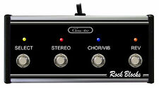 Rock Blocks - Custom Footswitch with LEDs for Peavey Stereo Chorus 400