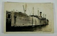 Vintage USS Artemis AKA 21 WWII 1940s Rare Unposted Antique Postcard Collectible
