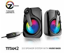 SonicGear Titan 2 Portable 2.0 Speaker with Volume Control + 7 Lighting