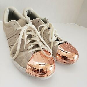 Size 9.5- Adidas Superstar 80s Metal rose gold shell top classic