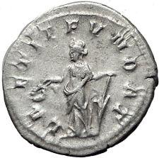 PHILIP I 'the Arab' 247AD Rome Silver Ancient Roman Coin Laetitia Happy i65368