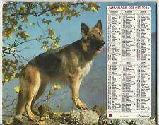 Calendar Almanac Ptt 1988 Oberthur Dog Shepherd German Horse Claude Martin