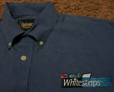 Men's CREST WHITESTRIPS White Strips Long Sleeve Oxford Shirt Large